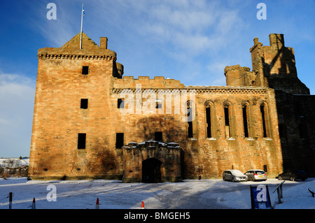Linlithgow Palace in West Lothian, Scotland - Stock Photo