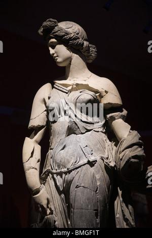 Turkey Antalya - Antalya Museum - The Dancer, a 2nd century AD statue of dark and light marble - Stock Photo