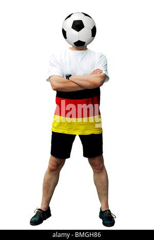 German soccer fan man - Stock Photo