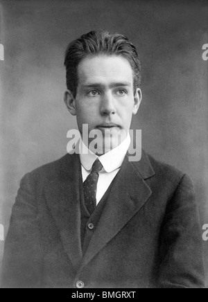 Portrait photo circa 1910s of Danish physicist and Nobel Prize winner Niels Bohr (1885 - 1962). - Stock Photo