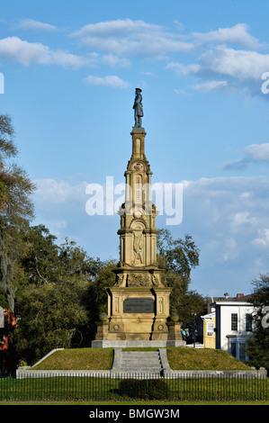 Confederate Memorial in Forsyth Park in Savannah, Georgia - Stock Photo