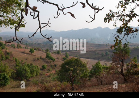 Myanmar. Burma. Shan State. Kalaw township. - Stock Photo