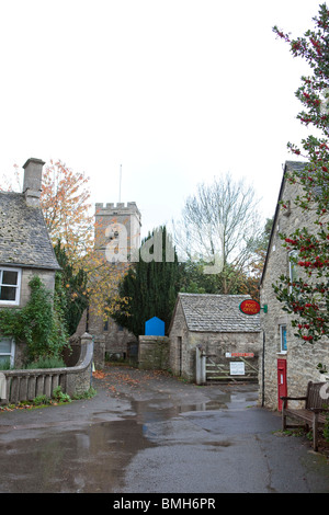 Stonesfield village in Oxfordshire which has sucessfully retained its post office - Stock Photo