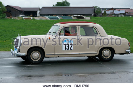 Old Mercedes Benz classic car - Stock Photo