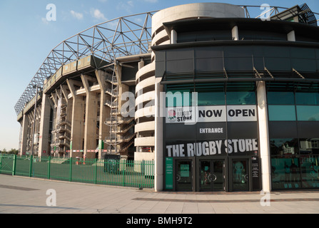 The Rugby Store at Twickenham Rugby Stadium, home of English International rugby, in south west London, UK. - Stock Photo