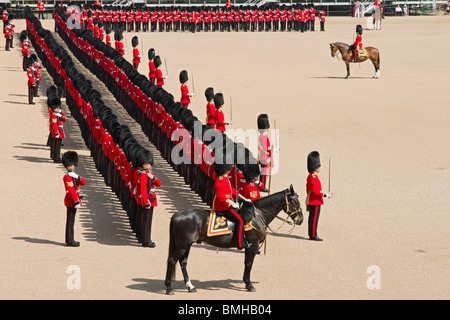 The Queen's Birthday Parade, also known as the Trooping of the Colour, held annually at Horse Guards Whitehall, - Stock Photo