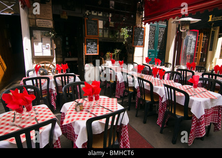 A restaurant in the Rue Mouffetard in Paris Stock Photo, Royalty ...