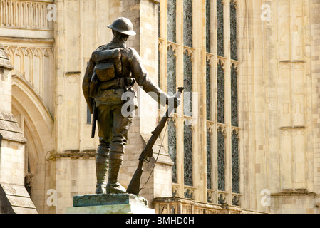 Kings Royal Rifle Corps Memorial Winchester Cathedral - Stock Photo