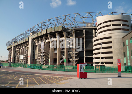 The Twickenham Rugby Stadium, home of English International rugby, in south west London, UK. - Stock Photo