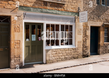 Watling goldsmiths & silversmiths shop front in Lacock UK - Stock Photo