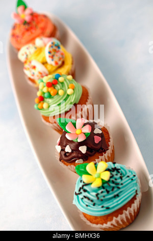 Assorted cupcakes Recipe available - Stock Photo