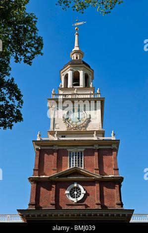 Independence Hall is a U.S. national landmark located in Philadelphia, Pennsylvania - Stock Photo