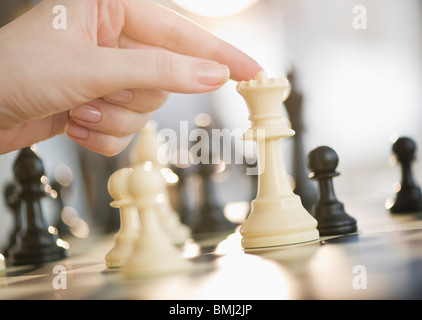 Playing game of chess - Stock Photo