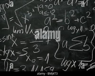 Math Formula on a Blackboard - Stock Photo