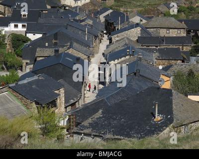 El Acebo village. El Bierzo area. Leon province. Spain. WAY OF ST JAMES. - Stock Photo