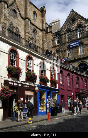 The Whiskey Shop, Victoria Street, Edinburgh, Scotland - Stock Photo