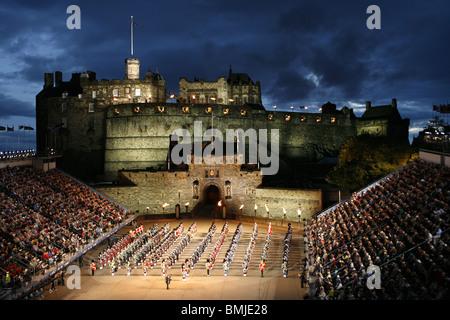 Edinburgh Military Tattoo, Edinburgh Castle, Edinburgh, Scotland - Stock Photo