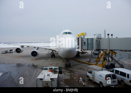 View of aircraft in airport - Stock Photo