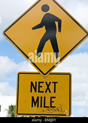 A road sign, USA. - Stock Photo