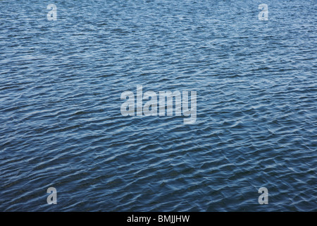 View of rippled sea surface - Stock Photo