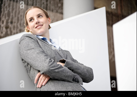 Portrait of friendly succesful business - Stock Photo