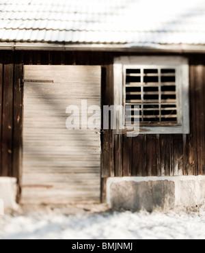 Scandinavian Peninsula, Sweden, Skane, View of old wooden house - Stock Photo