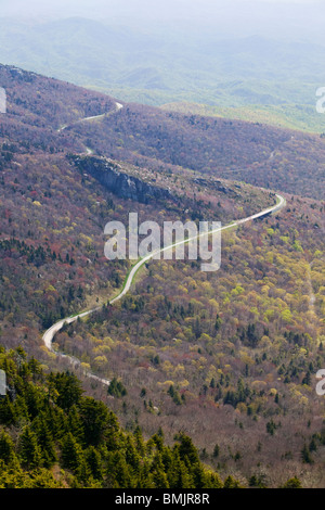 Road in a mountain scenery - Stock Photo