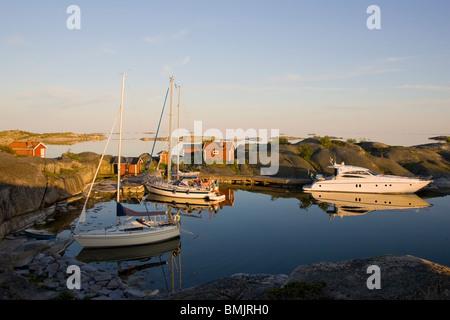 Marina in the archipelago - Stock Photo