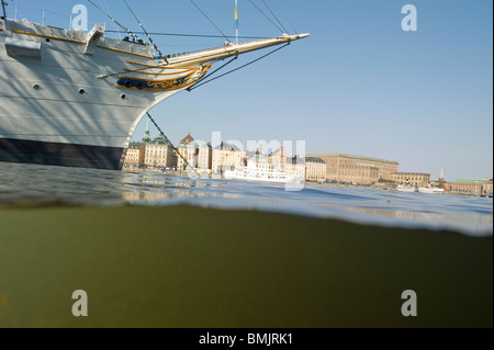 A ship in Stockholm - Stock Photo