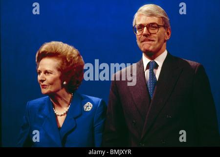 Margaret Thatcher and John Major - Stock Photo
