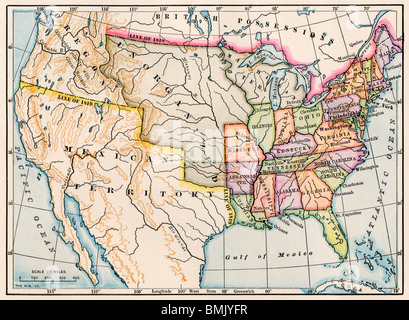 1830 Us Map.Map Of The United States In 1830 Stock Photo 50055617 Alamy