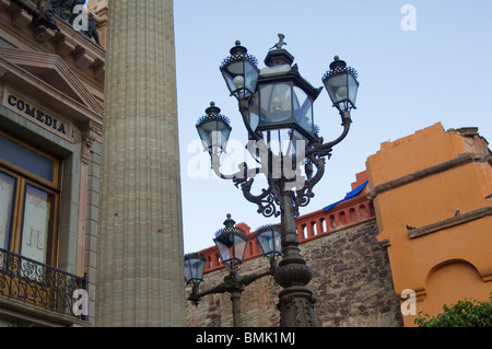Historic town of Guanajuato, Teatro Juarez, Province of Guanajuato, Mexico - Stock Photo