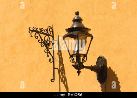 Historic town of Guanajuato, Street lamp, Province of Guanajuato, Mexico - Stock Photo