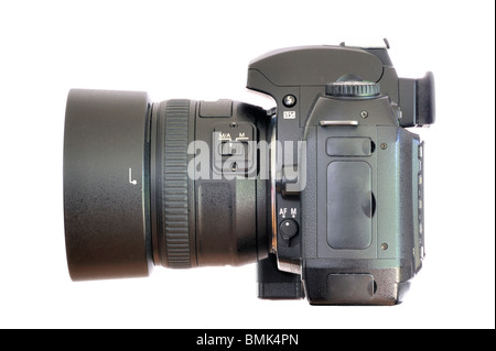 Side view of a digital single lens reflex camera - Stock Photo
