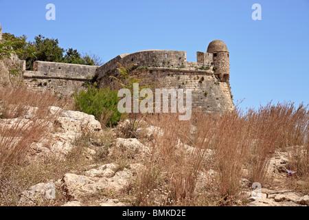 Crete Rethymnon Fortezza Wall - Stock Photo