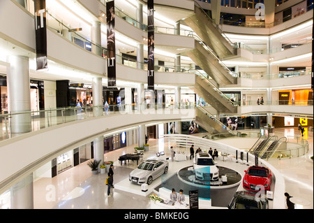 Plaza 66 shopping mall on Nanjing Road West, Shanghai, China - Stock Photo