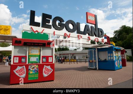 Legoland family theme park, Windsor, Berkshire, UK - Stock Photo