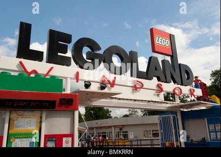 Legoland theme park, Windsor, Berkshire, UK - Stock Photo