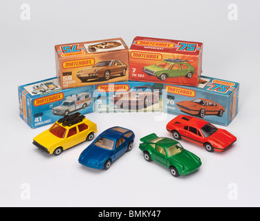 Toy cars from the late 1970's early 1980's - Stock Photo