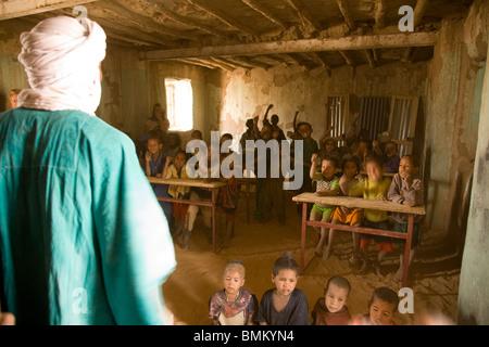 Mali. School children in a classroom - Stock Photo
