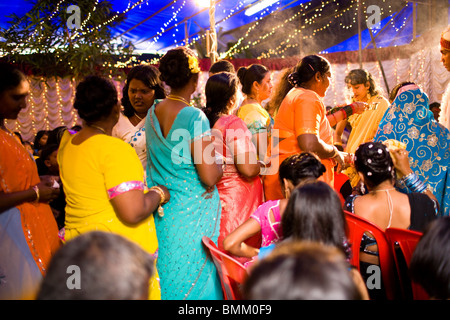 Hindi Wedding, Trou D' Eau Douce, Mauritius, Africa - Stock Photo
