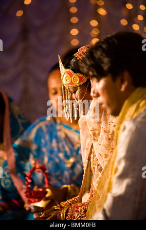 Hindi Wedding, Trou D' Eau Douce, Mauritius, Africa - Stock Photo