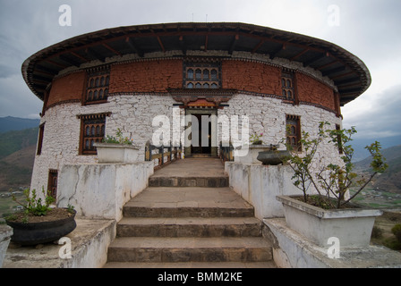 National museum in a former buddhistic monastery,Paro, Bhutan,Asia - Stock Photo
