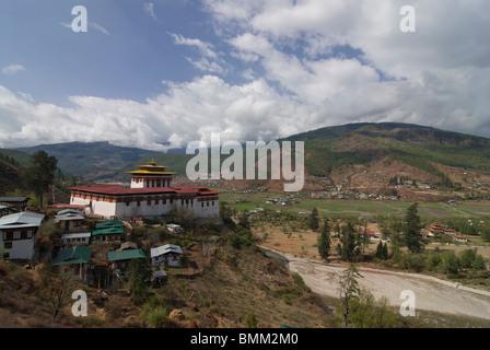 Buddhistic monastery, Tsong of Paro,Bhutan,Asia - Stock Photo