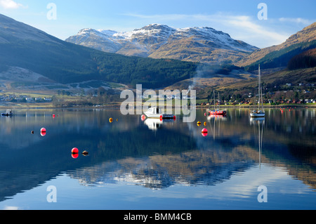 Lochgoilhead at the head of Loch Goil, Argyle and Bute, Scotland - Stock Photo