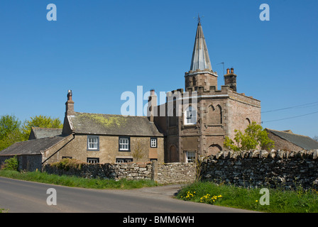 Spire House, a 'folly' built about 1780, near Greystoke, Cumbria, England UK - Stock Photo