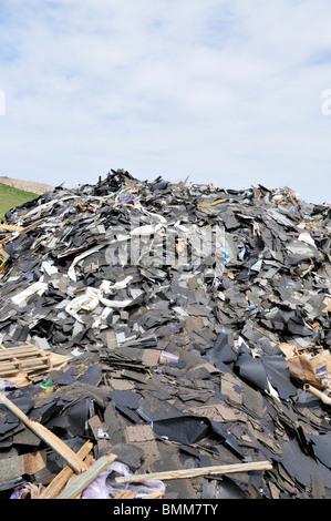 Big pile of trash at landfill usa - Stock Photo