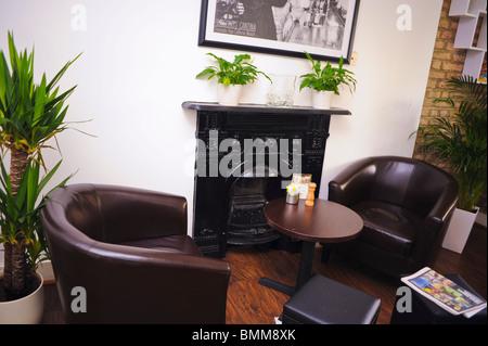London, England, English Coffee Shop, 'Café, Kaffinn', SW6, Lounge Area, Inside - Stock Photo