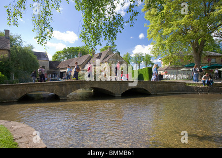 Bourton-on-the-water village, Cotswolds, Gloucestershire - Stock Photo