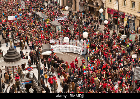'March for Life' demonstration against current Spanish abortion laws, March 7th, Madrid, Spain. - Stock Photo
